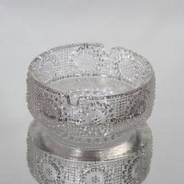 Riihimäen lasi Grapponia tuhka-astia, kirkas, suunnittelija Nanny Still,