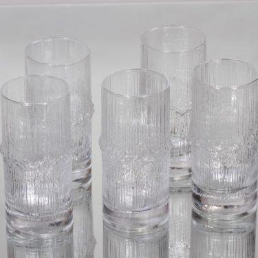 Iittala Niva lasit, 20 cl, 5 kpl, suunnittelija Tapio Wirkkala, 20 cl