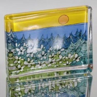 Iittala lasikortti, Lämpö auringon, suunnittelija Heljä Liukko-Sundström, Lämpö auringon, suuri, serikuva