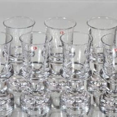 Iittala Tavastia lasit, 7 cl, 7 kpl, suunnittelija Tapio Wirkkala, 7 cl