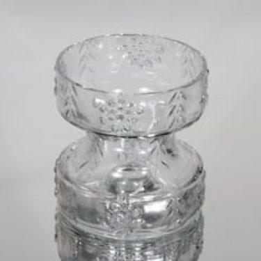 Riihimäen lasi Mesimarja kääntömaljakko, kirkas, suunnittelija Tamara Aladin,