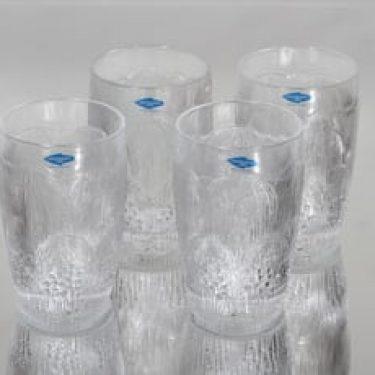 Nuutajärvi Pioni juomalasit, 26 cl, 4 kpl, suunnittelija Oiva Toikka, 26 cl