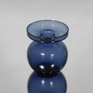 Iittala 1965 kynttilänjalka, sininen, suunnittelija Erkki Vesanto, pieni