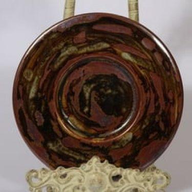 Arabia koristelautanen, käsinmaalattu, suunnittelija Annikki Hovisaari, käsinmaalattu, pieni, signeerattu