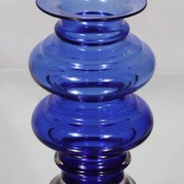 Riihimäen lasi Tornado maljakko, sininen, suunnittelija Tamara Aladin, suuri