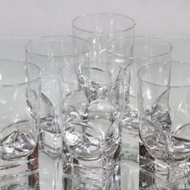 Nuutajärvi Contact lasit, 30 cl, 6 kpl, suunnittelija Pertti Santalahti, 30 cl