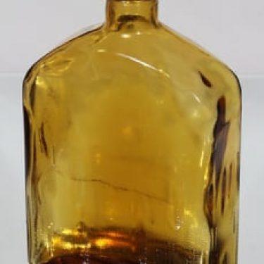Riihimäen lasi Lankkupullo koristepullo, amber, suunnittelija Helena Tynell, suuri
