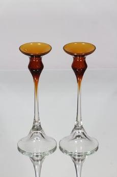 Kumela 354=5007 kynttilänjalat, ruskea, 2 kpl, suunnittelija Marjut Kumela,