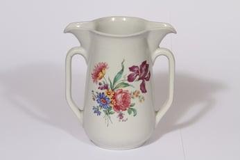 Arabia kukkakuvio kaksoiskaadin, 1 l, suunnittelija Aimo Alve, 1 l, siirtokuva, kukka-aihe