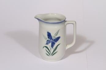 Arabia kukkakuvio kaadin, 0.5 l, suunnittelija Thure Öberg, 0.5 l, pieni, puhalluskoriste, perhosaihe