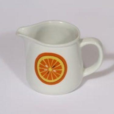 Arabia Pomona kermakko, appelsiini, suunnittelija Raija Uosikkinen, appelsiini, serikuva, retro
