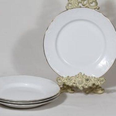 Arabia Siro lautaset, matala, 4 kpl, suunnittelija , matala, matala, kullattu