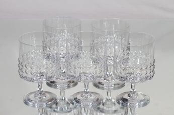 Riihimäen lasi Grappo punaviinilasit, 30 cl, 5 kpl, suunnittelija Nanny Still, 30 cl