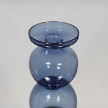 Iittala 2660 kynttilänjalka, sininen, suunnittelija Erkki Vesanto, pieni