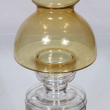 Riihimäen lasi Apollo kynttilälyhty, amber, suunnittelija Nanny Still,