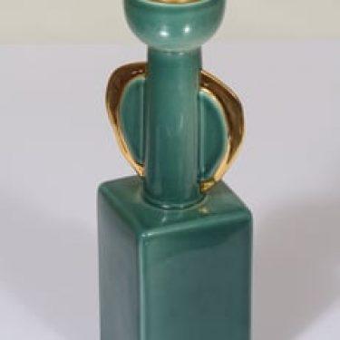 Arabia kynttilänjalka, signeerattu, suunnittelija Olli Vasa, signeerattu, kullattu, numeroitu
