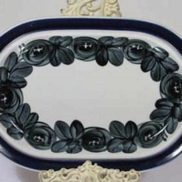 Arabia Anemone vati, sininen, suunnittelija Ulla Procope, soikea, käsinmaalattu, kukka-aihe