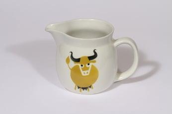 Arabia Heluna kaadin, 0.5 l, suunnittelija Anja Juurikkala, 0.5 l, pieni, lehmäaihe, retro