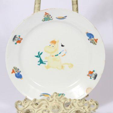 Arabia Muumi lasten lautanen, suunnittelija Tove Slotte, pieni, serikuva