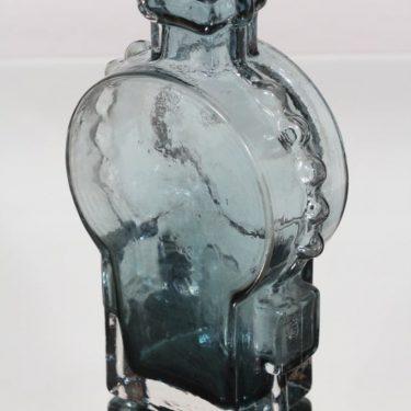 Riihimäen lasi Ahkeraliisa maljakko, siniharmaa, suunnittelija Helena Tynell,  kuva 2