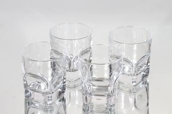 Iittala Contact lasit, kirkas, 4 kpl, suunnittelija Pertti Santalahti,