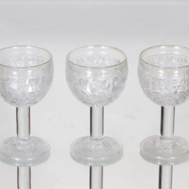 Nuutajärvi Rosita lasit, 10 cl, 3 kpl, suunnittelija Kerttu Nurminen, 10 cl