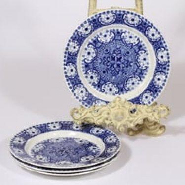 Arabia Ali leivoslautaset, sininen, 4 kpl, suunnittelija Raija Uosikkinen, kuparipainokoriste