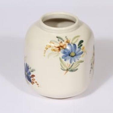 Arabia ARA maljakko, käsinmaalattu, suunnittelija Kurt Ekholm, käsinmaalattu, kukka-aihe