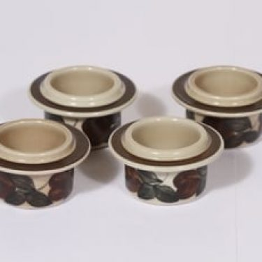 Arabia Ruija munakupit, käsinmaalattu, 4 kpl, suunnittelija Raija Uosikkinen, käsinmaalattu