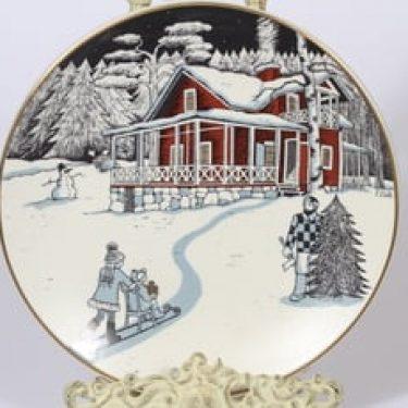 Arabia Joululautanen joululautanen, 1990, suunnittelija Tove Slotte, 1990, serikuva