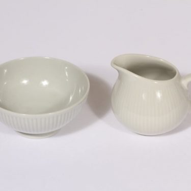 Arabia Sointu sugar bowl and creamer, gray, Kaj Franck