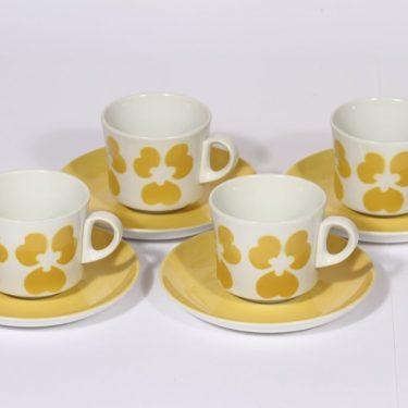 Arabia BR kahvikupit, retrokoriste, 4 kpl, suunnittelija , retrokoriste, puhalluskoriste, retro