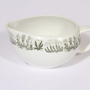 Arabia Polaris sauce pitcher, designer Raija Uosikkinen, silk screening, flower theme