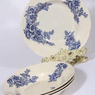 Arabia lautaset, syvä, 4 kpl, suunnittelija , syvä, kuparipainokoriste