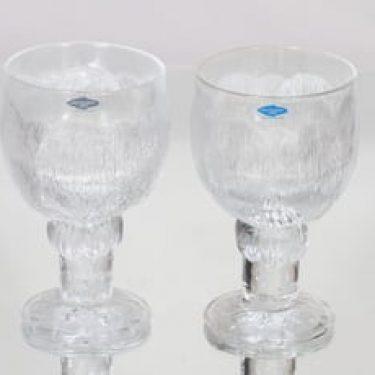 Nuutajärvi Pioni lasit, 30 cl, 2 kpl, suunnittelija Oiva Toikka, 30 cl
