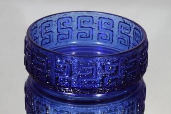Riihimäen lasi Taalari kulho, sininen, suunnittelija Tamara Aladin, retro
