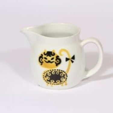 Arabia Kissa kaadin, 0.5 l, suunnittelija Gunvor Olin-Grönqvist, 0.5 l, pieni, puhalluskoriste, kissa-aihe