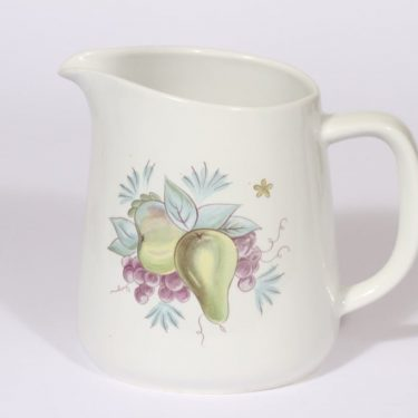 Arabia Sylvi jug, 1.5 l, designer Kaarina Aho, silk screening, flower theme