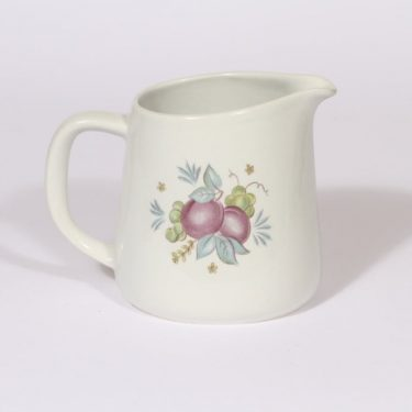 Arabia Sylvi jug, 0.75 l, designer Kaarina Aho, silk screening, flower theme