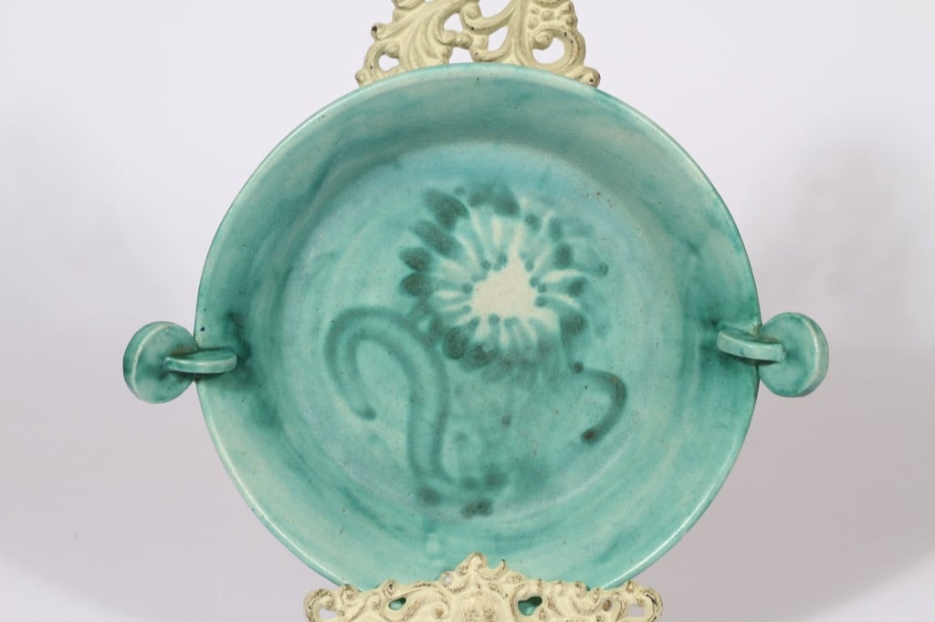 Kupittaan savi 216 1 bowl, hand-painted, signed