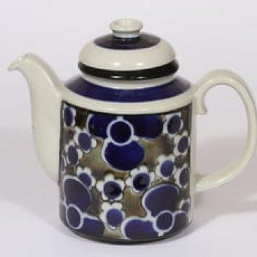 Arabia Saara kahvikaadin, 1 l, suunnittelija Anja Jaatinen-Winquist, 1 l, erikoiskoriste, retro