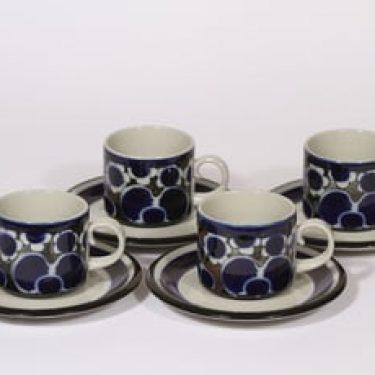 Arabia Saara teekupit, 20 cl, 4 kpl, suunnittelija Anja Jaatinen-Winquist, 20 cl, erikoiskoriste, retro