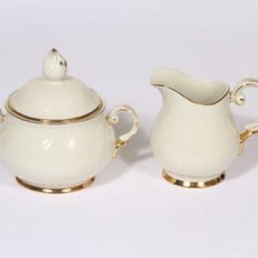 Arabia Kultakoriste sokerikko ja kermakko, suunnittelija , kullattu