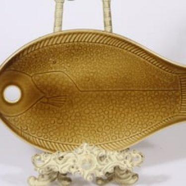 Arabia Kala talouslevy, ruskea, suunnittelija Kaarina Aho,