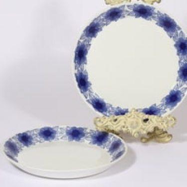 Arabia Malva lautaset, matala, 2 kpl, suunnittelija Esteri Tomula, matala, serikuva, kukka-aihe