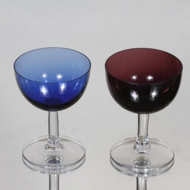 Nuutajärvi 1125 liqueur glass, different colors, 2 pcs, Saara Hopea