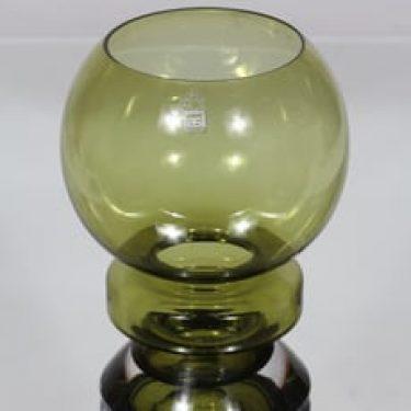 Riihimäen lasi Ella maljakko, oliivinvihreä, suunnittelija Nanny Still,