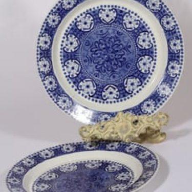 Arabia Ali lautaset, sininen, 2 kpl, suunnittelija Raija Uosikkinen, kuparipainokoriste
