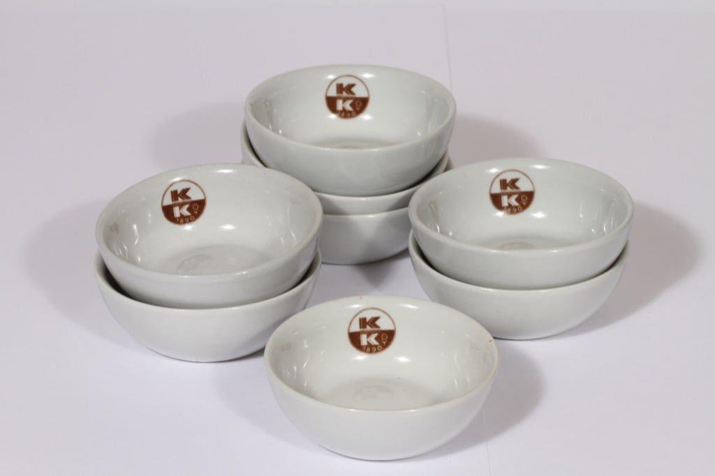 Arabia sokerimaljat, tilattu koriste, 8 kpl, suunnittelija , tilattu koriste, painokoriste