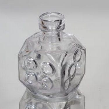 Riihimäen lasi Arpa on heitetty koristepullo, kirkas, suunnittelija Erkkitapio Siiroinen, pieni